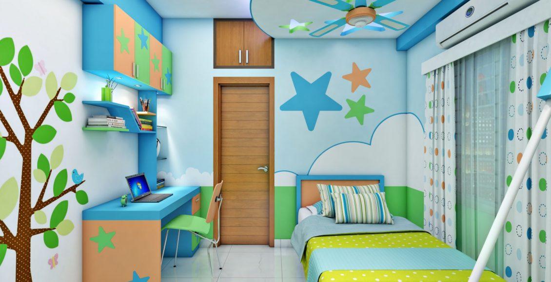 ديكور شقق غرف نوم اطفال